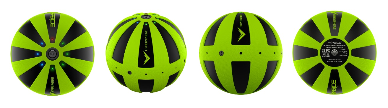 Hypersphere Vibrating Massage Ball - Side by Side View