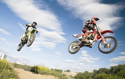 Motorcross braces and supports