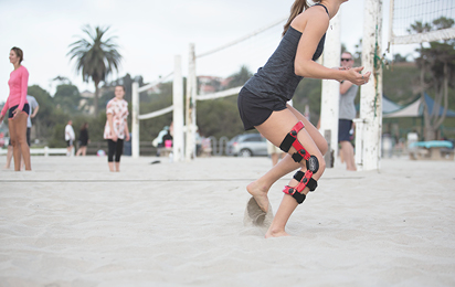 Volleyball braces and supports