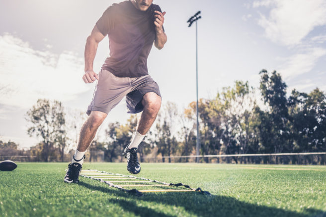 Speed Ladder Warm-up with POD Ankle