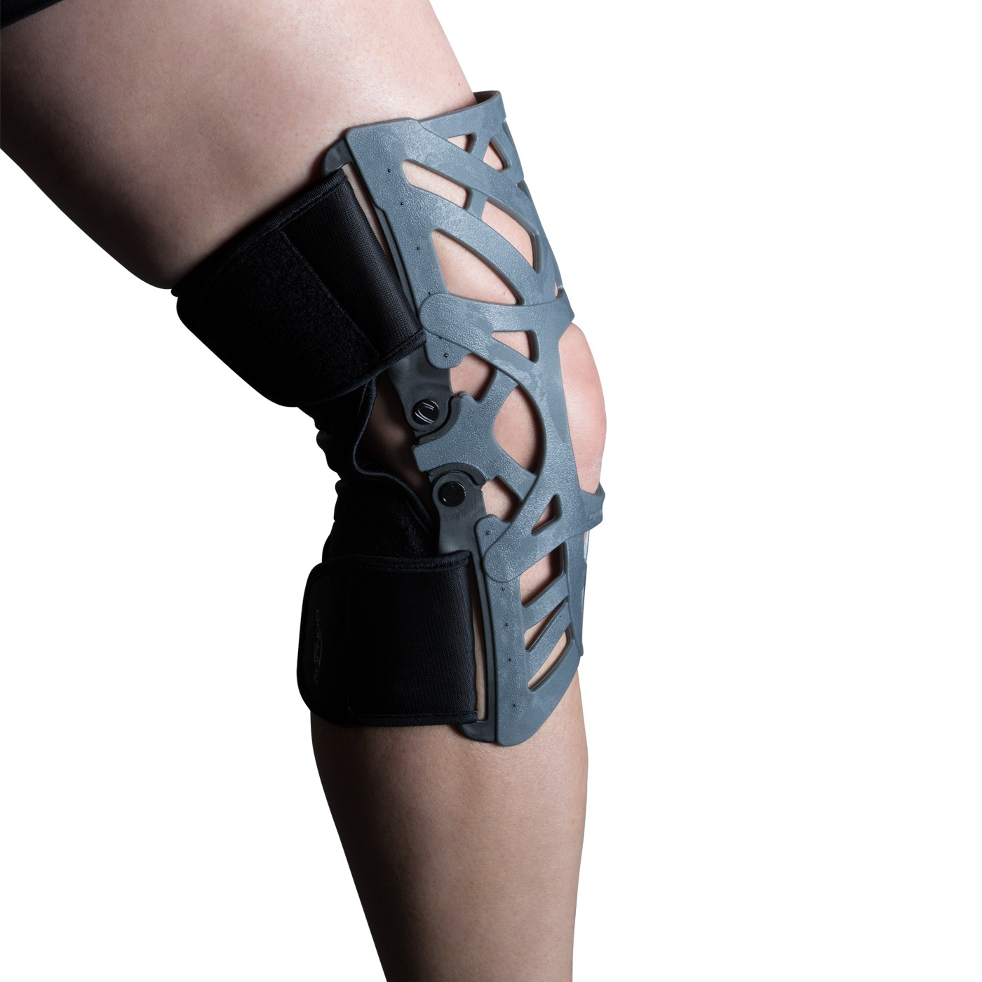 DonJoy Reaction Web Knee Support Brace with Compression Undersleeve X-Large//XX-Large Blue