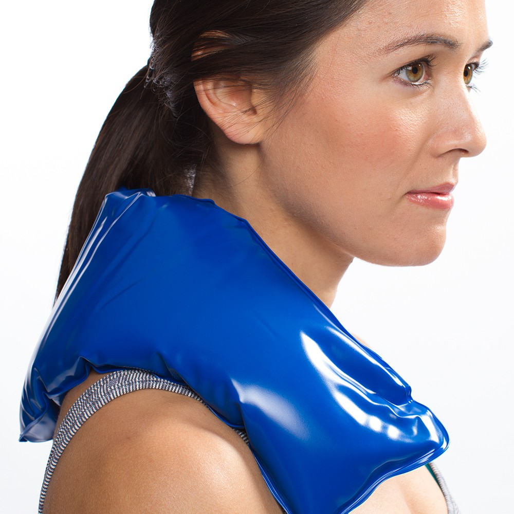 Global Wellness Neck Ice Pack - Cold Compress Therapy Wrap - Cool, Reusable Medical Freezer Gel Pad for Swelling, Injuries, Headache, Cooler - Flexible, Soft & Instant