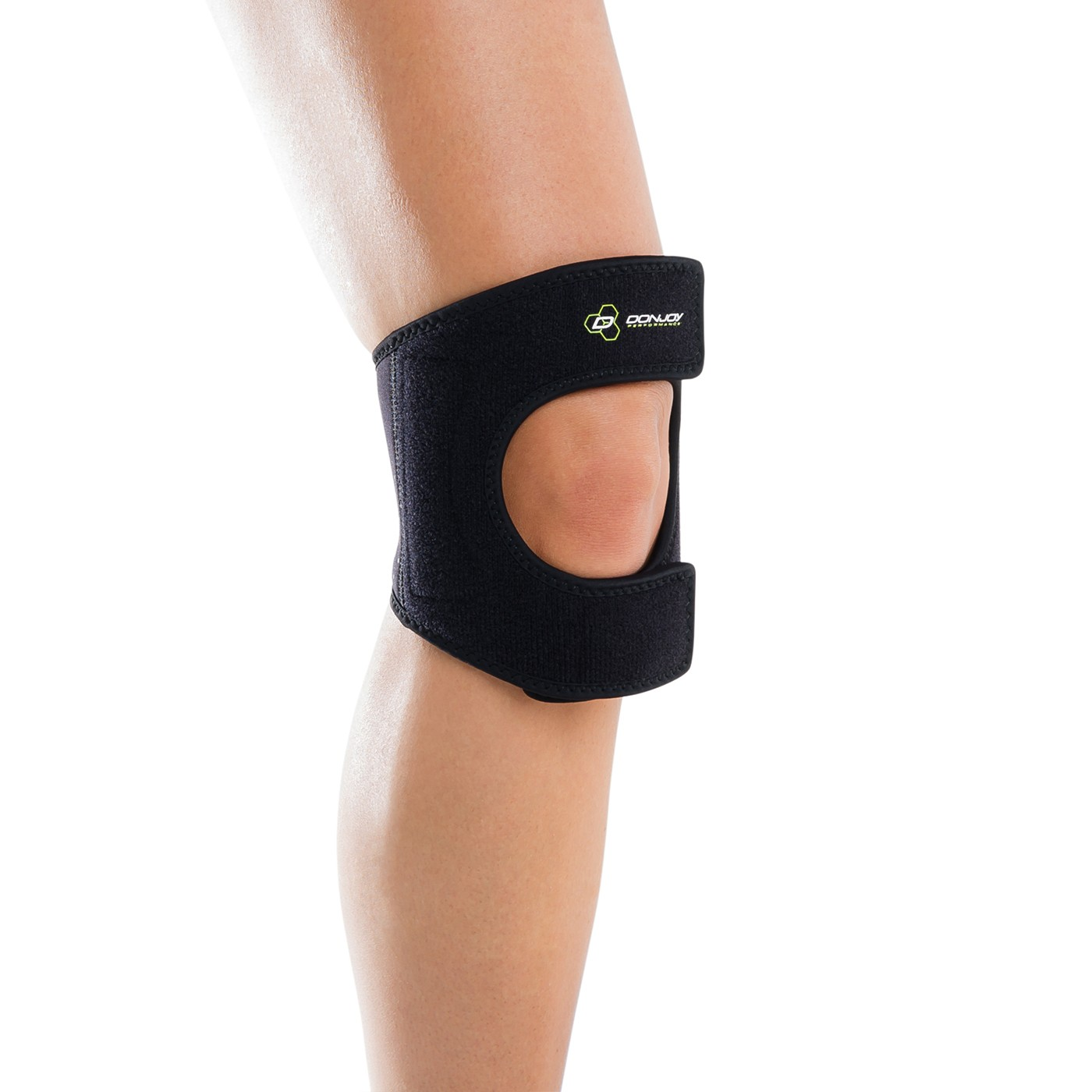 Anaform Dual PinPoint Knee Strap - Black - On-Skin - Front
