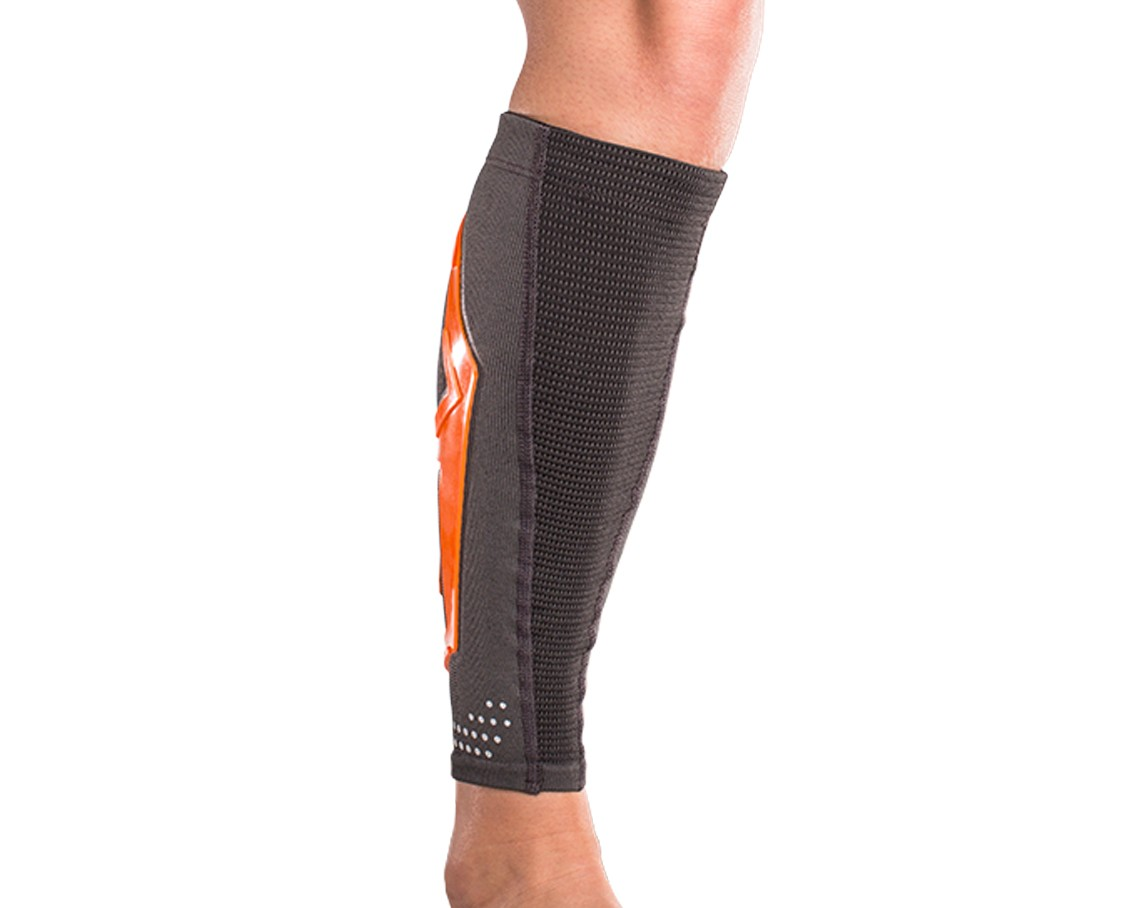 TriZone Calf Support - Orange - On-Skin - Front