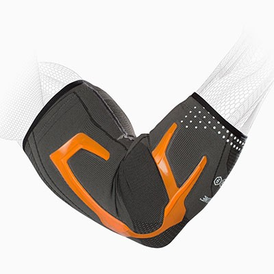 TriZone Elbow Support - Orange - Hex