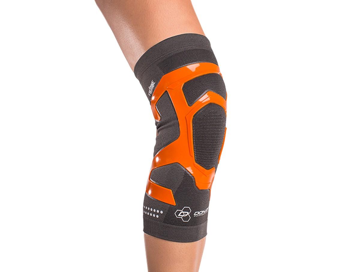 TriZone Knee Support - On-Skin - Front - Orange