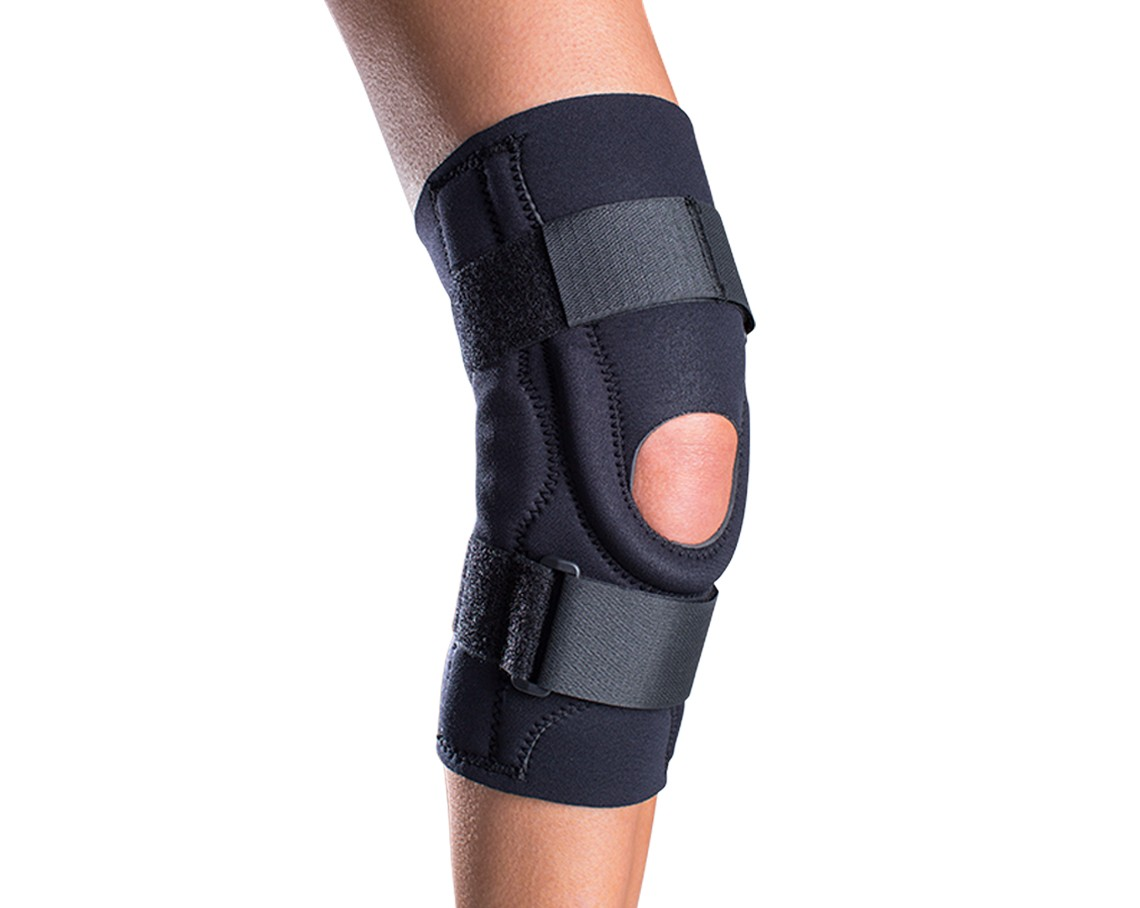 Hinged Knee Brace : Donjoy performer hinged patella knee brace neoprene