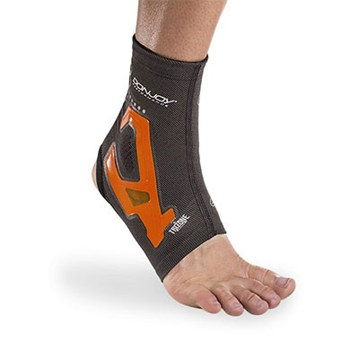 TriZone Ankle Support - Orange - On-Skin