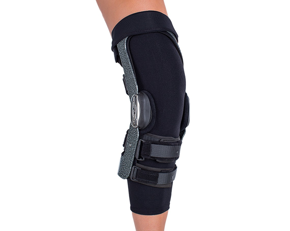5a4f629c3a DonJoy Knee Brace Undersleeve with brace over