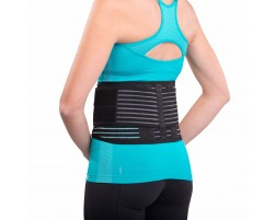 The DonJoy Advantage Stabilizing Back Support is a low-profile back brace to help relieve low-back pain. Adjustable for a personalized fit.