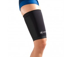 Anaform Compression Thigh Sleeve - On Skin - Front  - Black