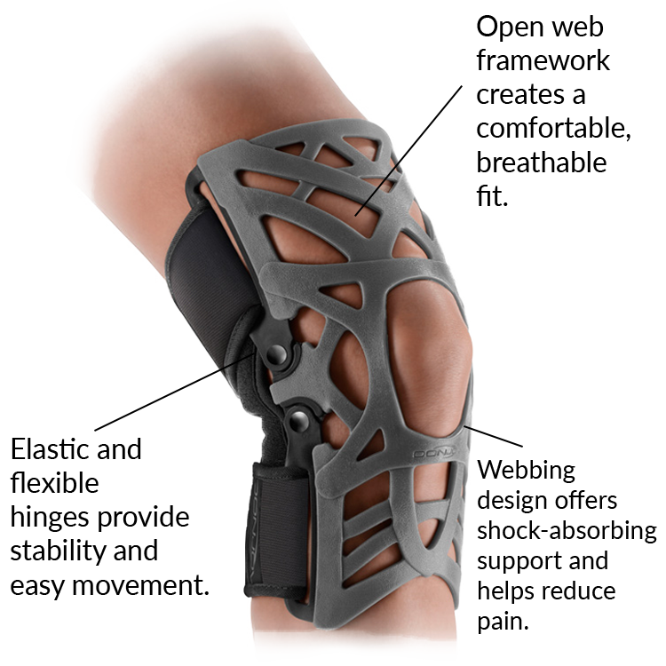 80bbe46ca8 Features & Benefits: Dynamic Support Webbing: Absorbs shock and shifts  weight to help alleviate knee ...