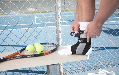 Tennis braces and supports