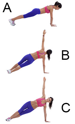 plank rotation exercise