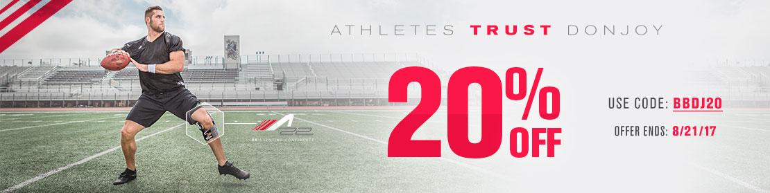Athletes Trust DonJoy - 20% OFF DonJoy