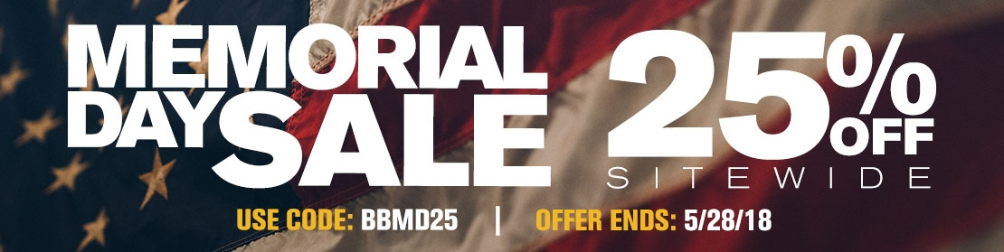 Memorial Day - 25% OFF Sitewide