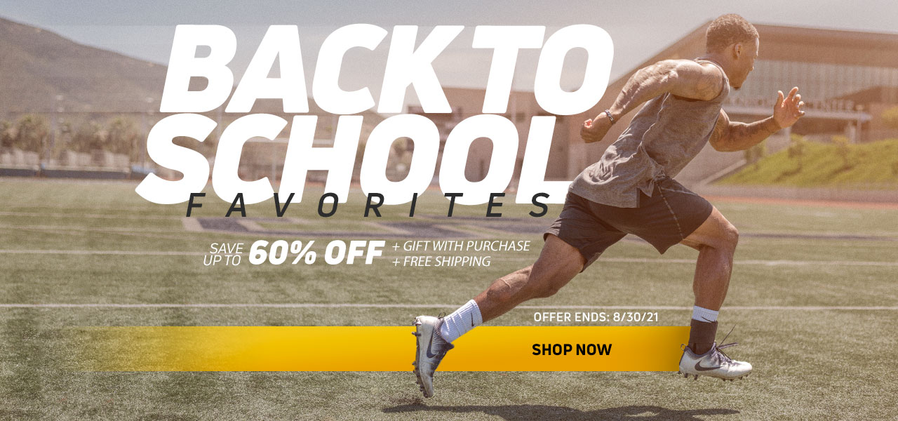 Back to School Sale - Football Player running wearing an ankle brace