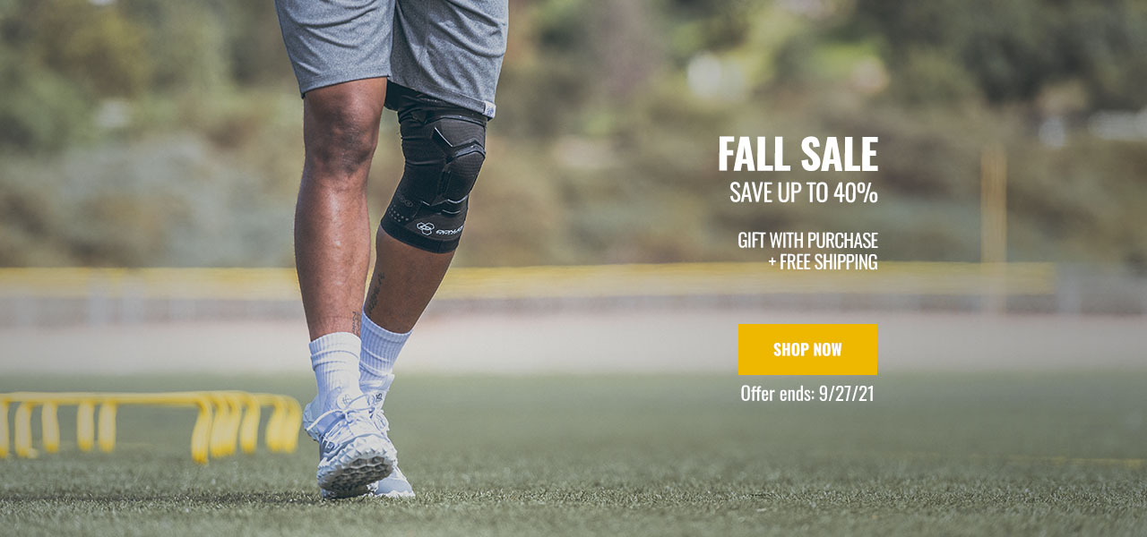 Fall Sale - athlete wearing an knee support
