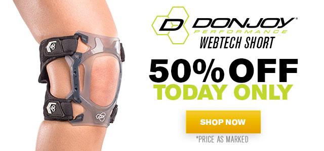 50% OFF DJP Webtech Short Knee Brace