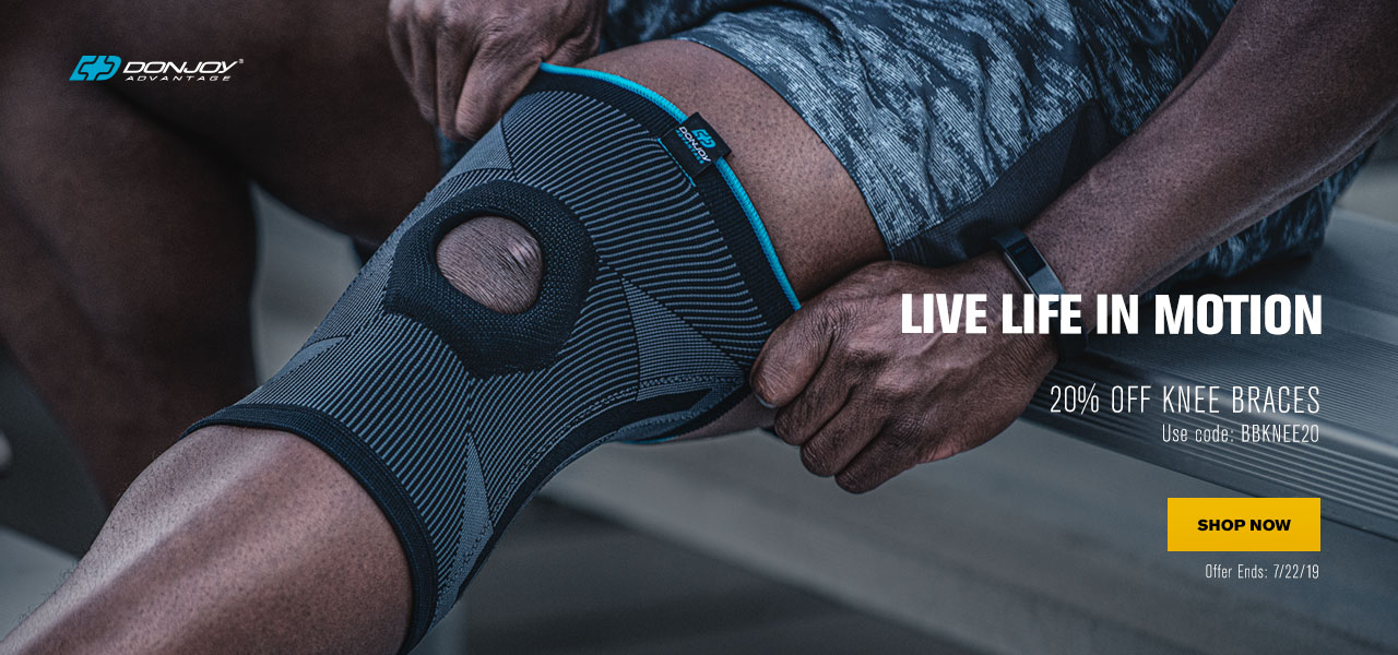 Live Life in Motion - 20% Off Knee Braces