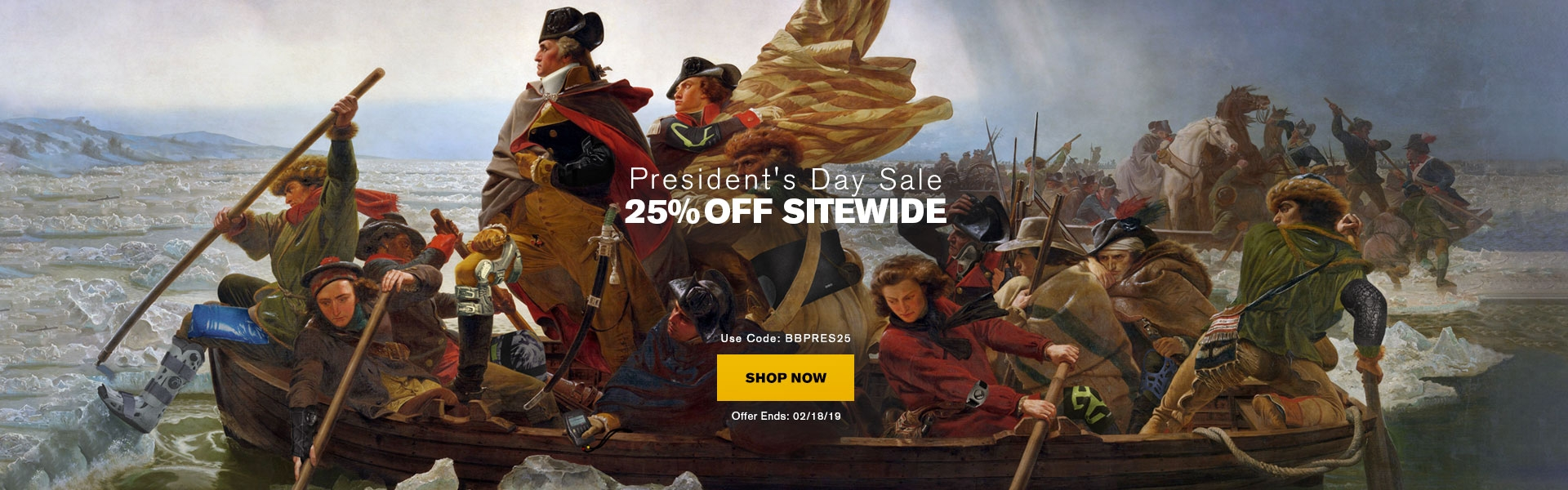 President's Day Sale - 25% Off Sitewide