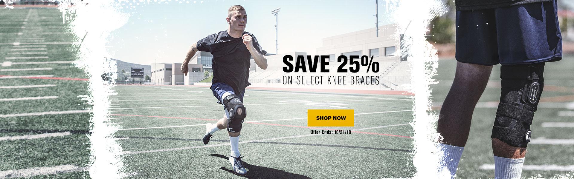 Save 25% On Select Knee Braces