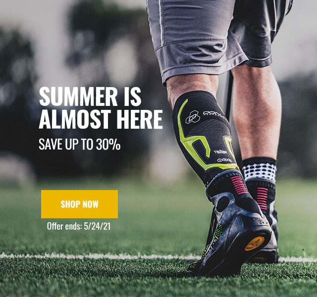 Summer is Almost Here - Save up to 30% - Athlete Wearing calve sleeve