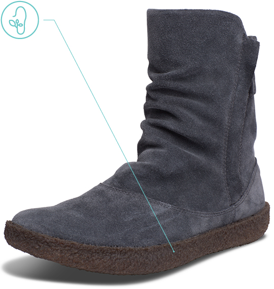 Women's Idyllwild Slouch Boot Natural Crepe Rubber
