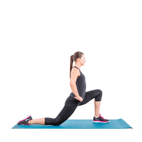 half knee hip stretch