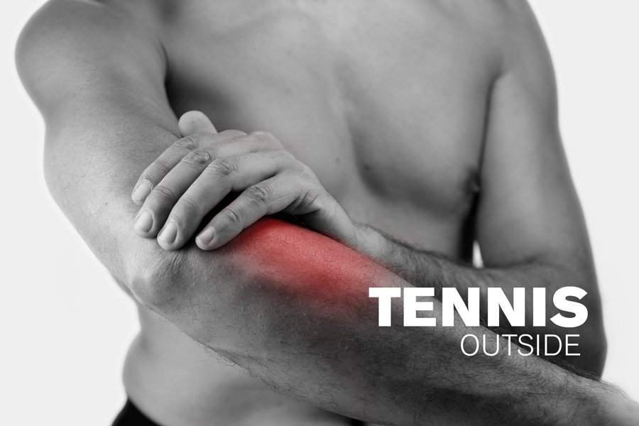 tennis elbow pain outside