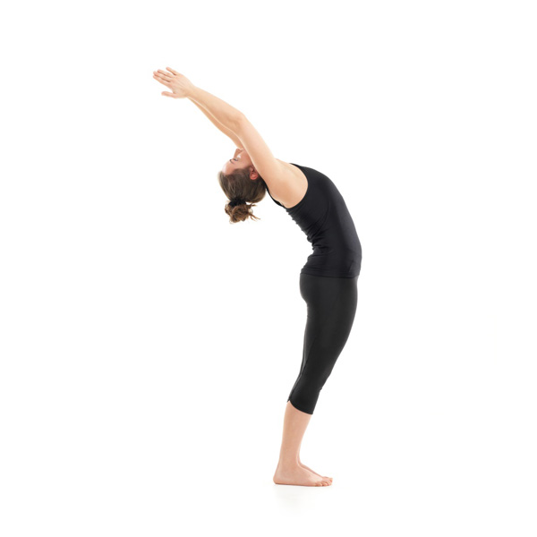 standing backbend yoga pose