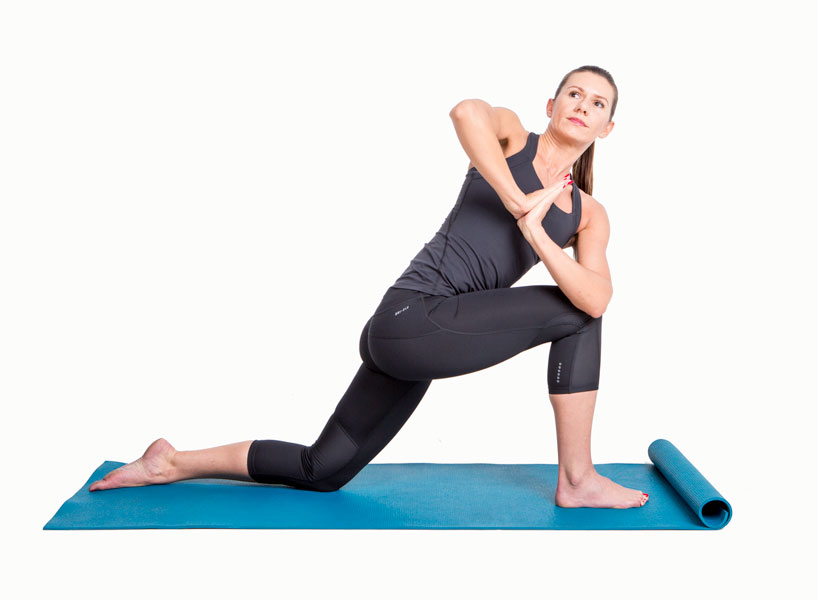 twisting lunge yoga pose