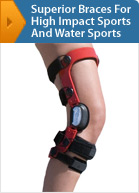 Custom, Technologically Superior Knee Braces For High Impact Sports And Water Sports